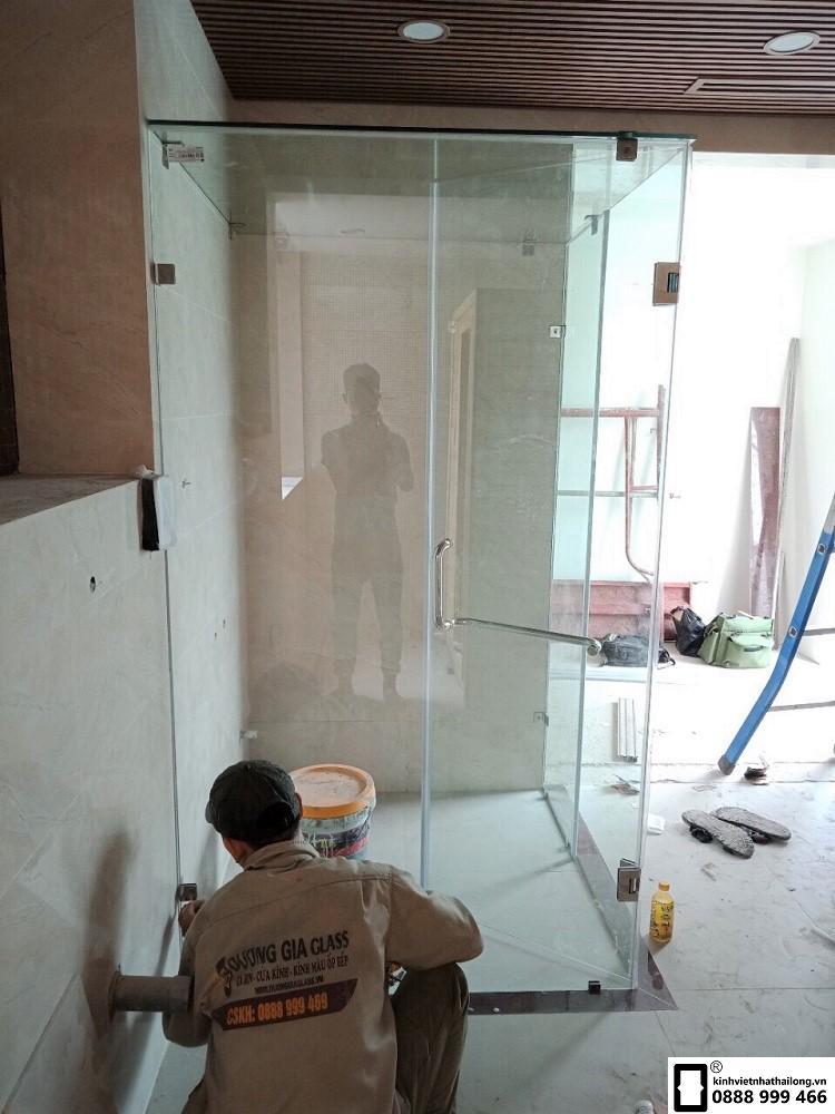 Cacbin phòng tắm kính 90 độ mẫu 2