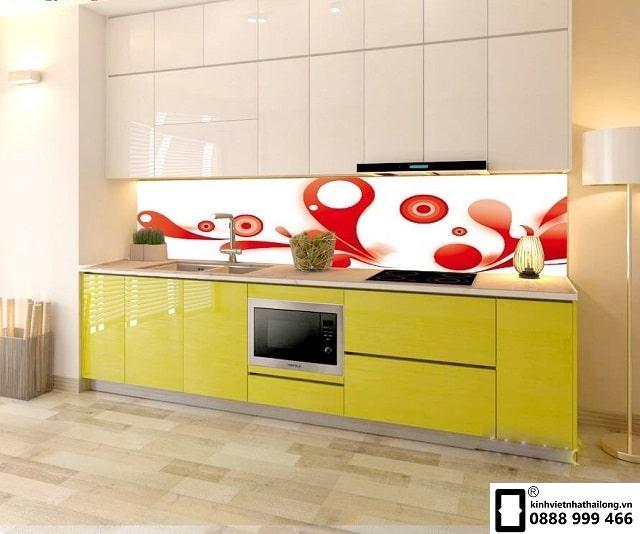 Kính ốp bếp 3D mẫu 14