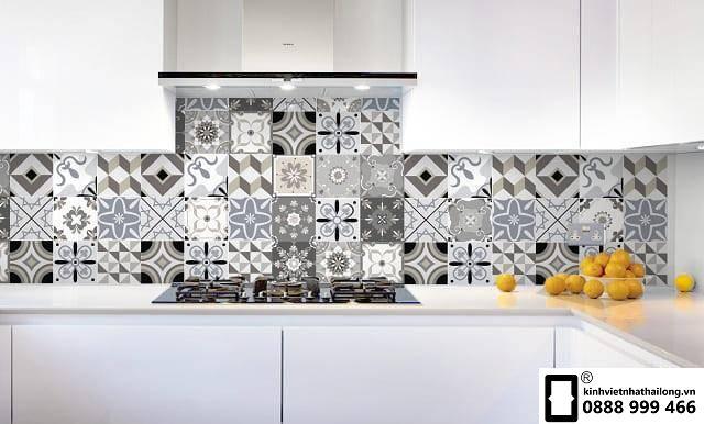 Kính ốp bếp 3D mẫu 16