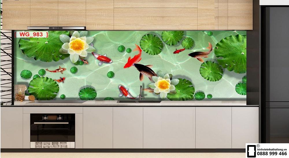 Kính ốp bếp 3D mẫu 35