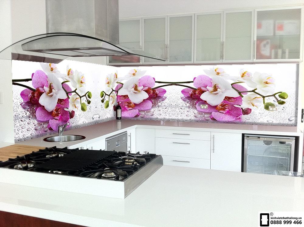 Kính ốp tường bếp 3D