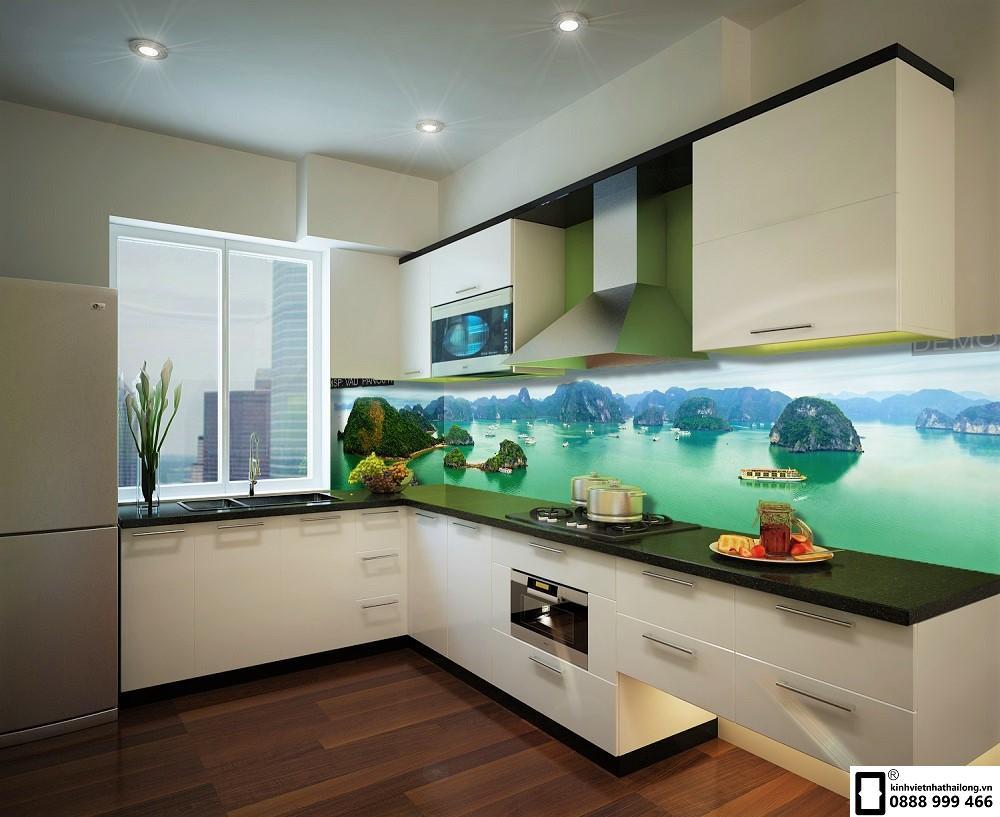 Tranh kính ốp bếp 3D