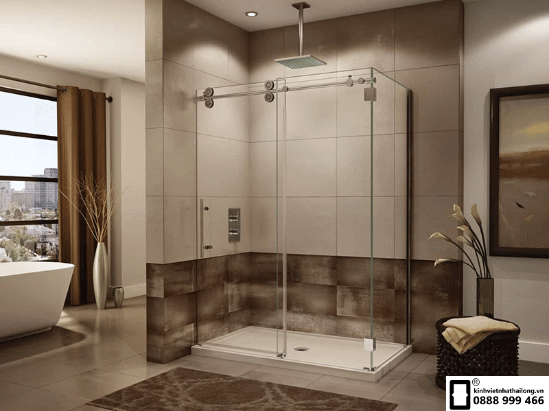 vách kính nhà tắm đẹp sang trọng
