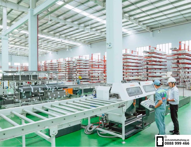 Dây chuyền sản xuất kính an toàn 2 lớp Việt Nhật