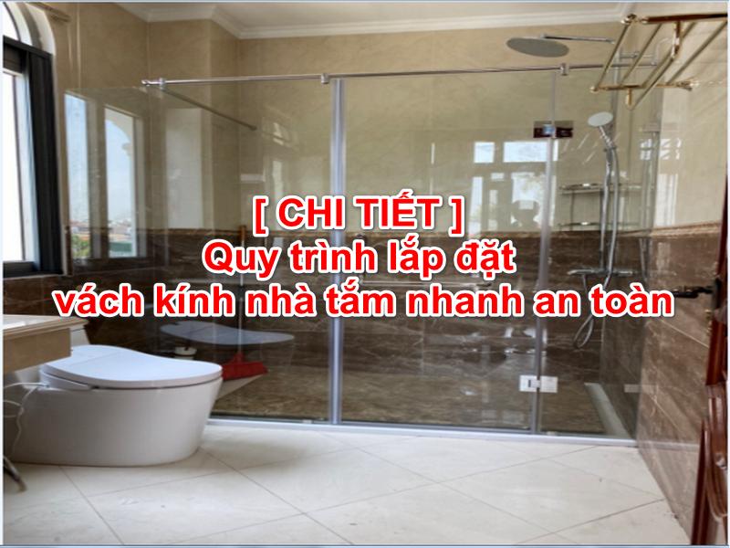 vách kính nhà tắm an toàn tiện lợi