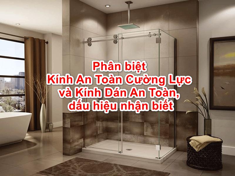 Cabin tắm sử dụng kính an toàn cường lực