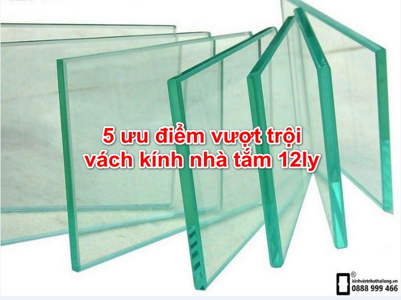 vách kính nhà tắm 12ly