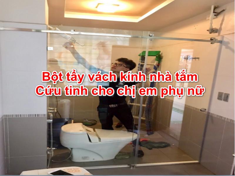 vệ sinh vách kính nhà tắm đúng cách