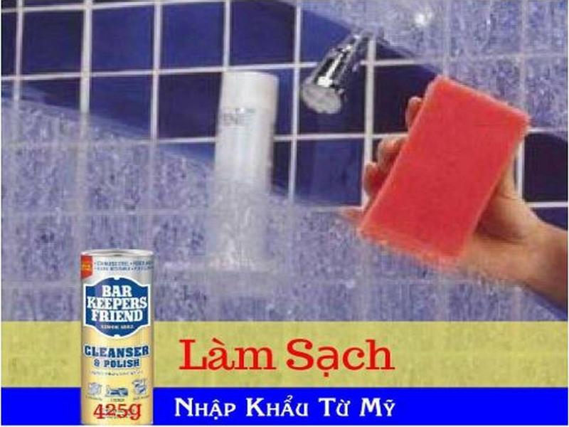 bột tẩy vách kính nhà tắm