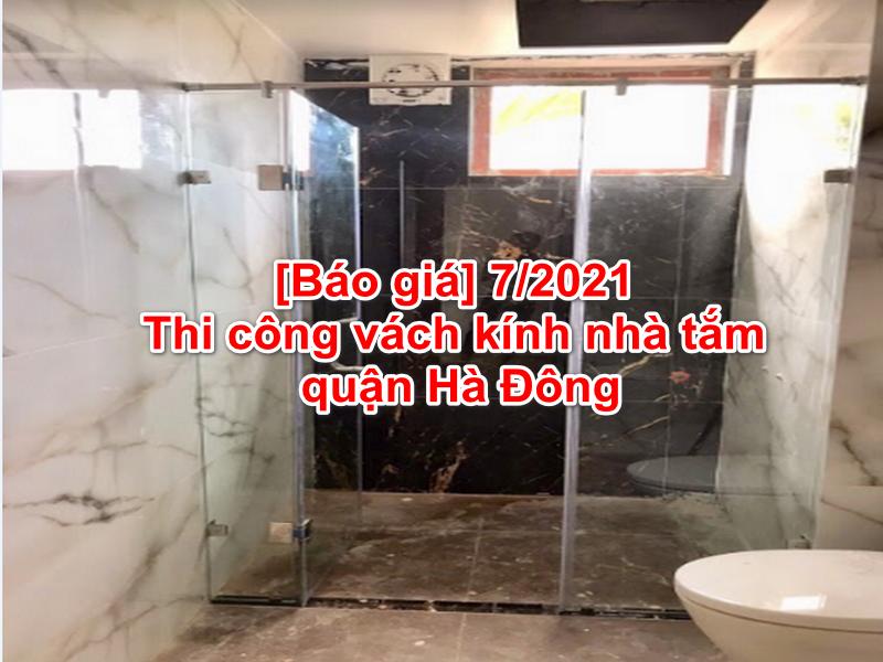 thi công vách kính nhà tắm tại Hà Đông