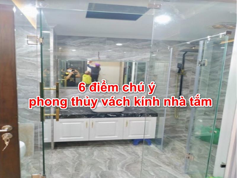 phong thủy có ý nghĩa quan trọng với vách kính nhà tắm