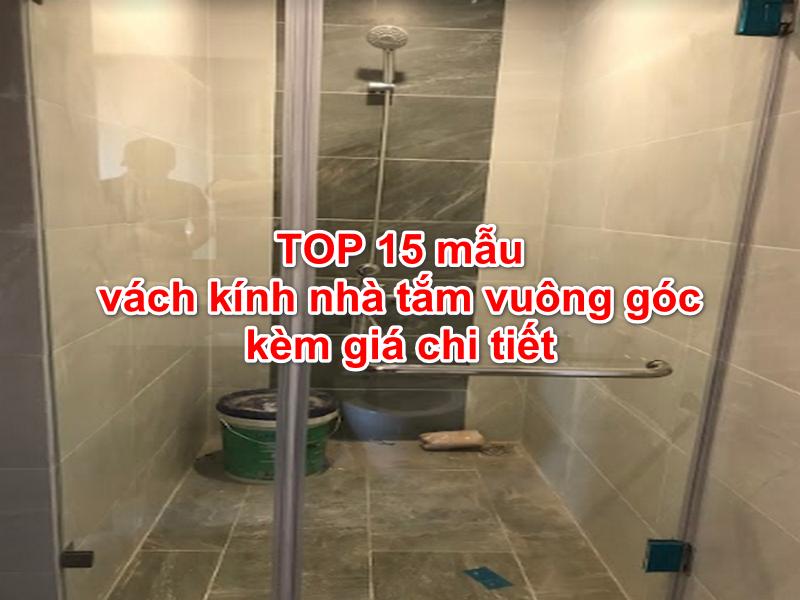 vách kính nhà tắm vuông góc đơn giản tiết kiệm không gian hiệu quả
