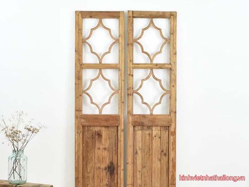 10 mẫu cửa kính cường lực khung gỗ đẹp nhất 2021
