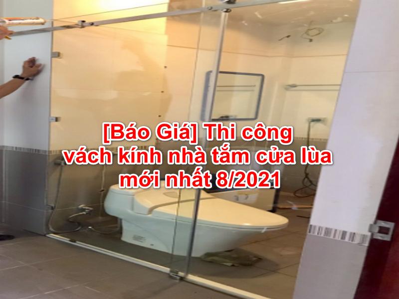 vách kính nhà tắm cửa lùa tiết kiệm chi phí đáng kể