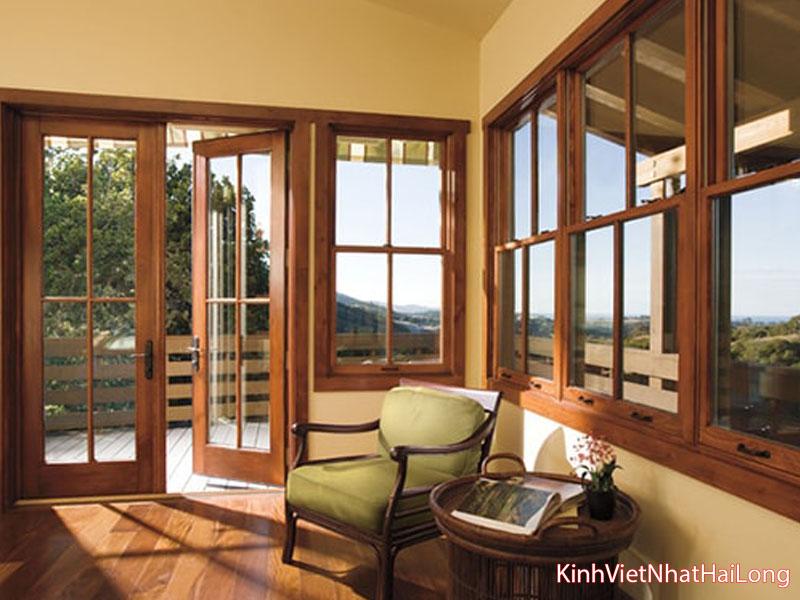 Cửa gỗ kính cường lực 2 cánh: Nét đẹp hoàn hảo trong thiết kế nội thất
