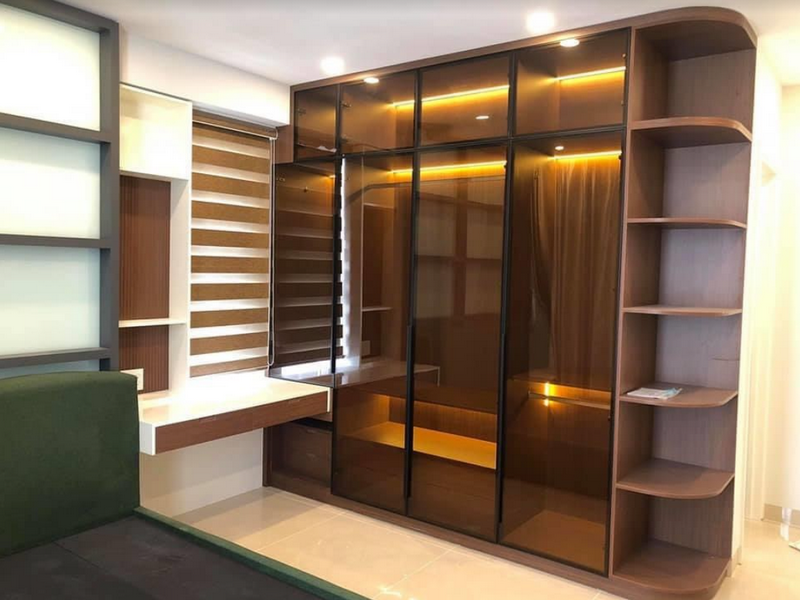 Cánh kính tủ áo đẹp cho không gian nội thất