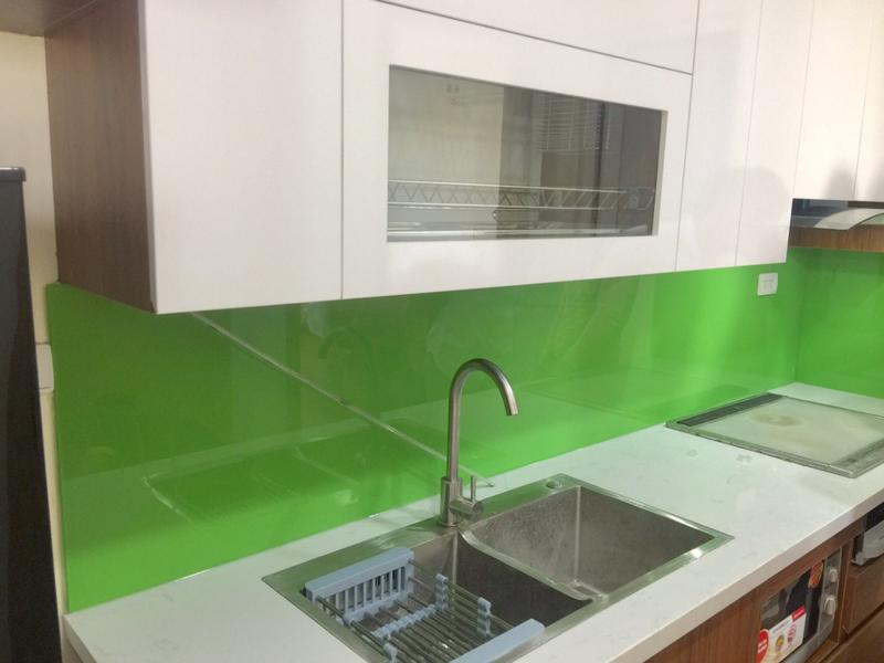 Kính chịu nhiệt nhà bếp xanh lá cây